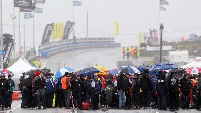 Rain has disrupted road race meetings