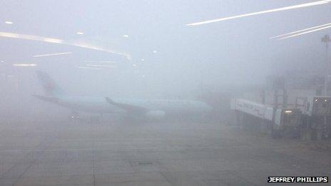 Fog at Heathrow