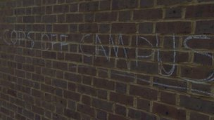 Cops off campus graffiti