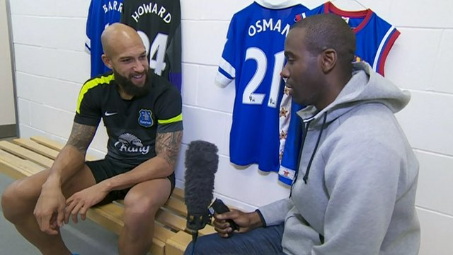 Fabrice Muamba interviews Tim Howard