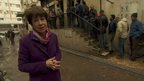 Lyse Doucet at bread line