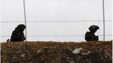 Israeli soldiers near border with Lebanon