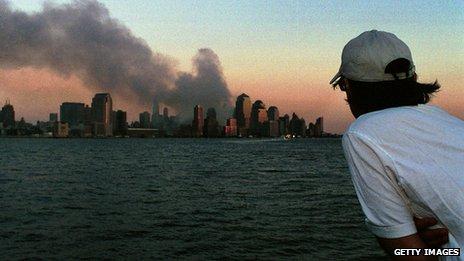 Smoke from World Trade Center