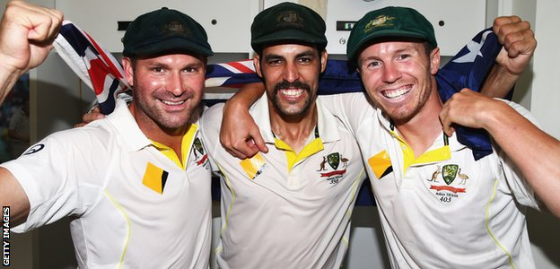 Ryan Harris, Mitchell Johnson and Peter Siddle