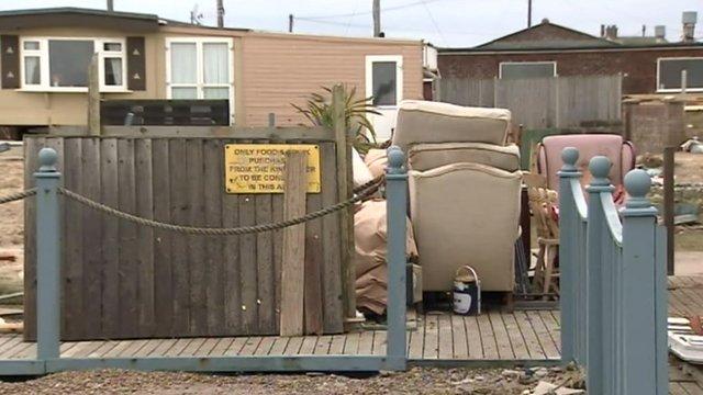 Surge damage in Walcott