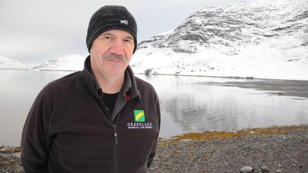 Ib Laursen works for Greenland Minerals and Energy, and says Narsaq needs mining to grow again