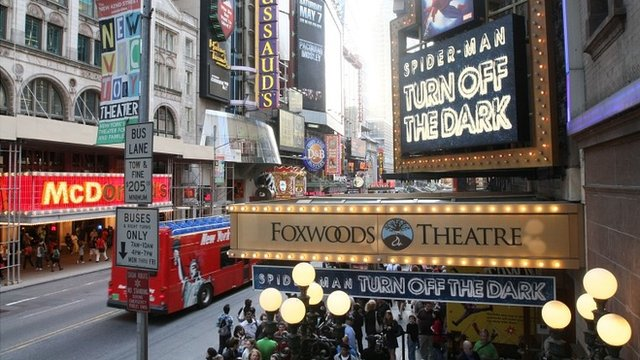 File photo of Foxwoods Theatre in NYC which is owned by Ambassador Theatre Group