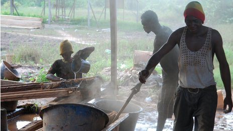 Ghanaian gold miners