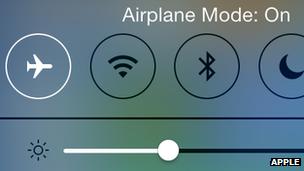 iPhone flight safety mode