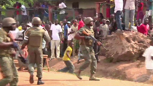 Soldiers in the Central African Republic
