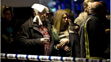 Injured theatre-goers