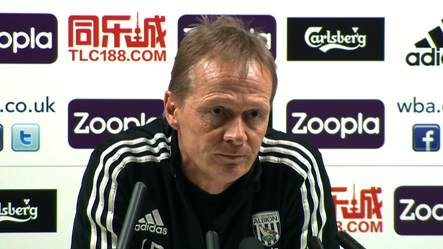 West Brom caretaker manager Keith Downing