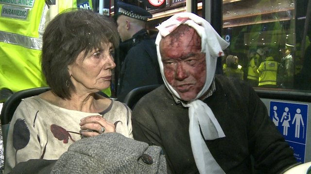 Woman and man who were in theatre when ceiling collapsed