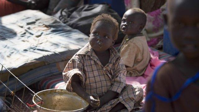 Refugee child in Juba , South Sudan