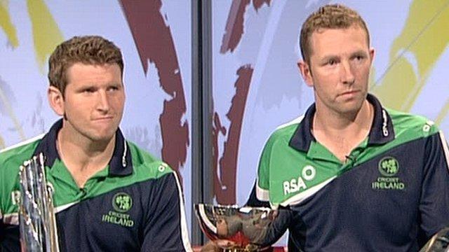 Ireland cricket players Gary Wilson and Andrew White