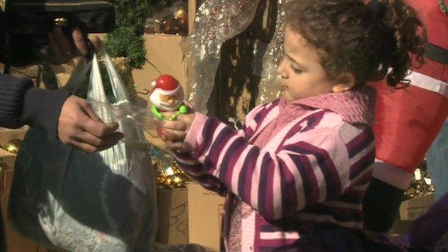 Christmas scene in Beirut