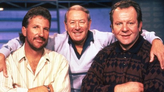 David Coleman with Ian Botham and Bill Beaumont on A Question of Sport in 1994