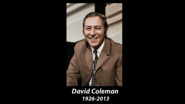 A tribute to David Coleman