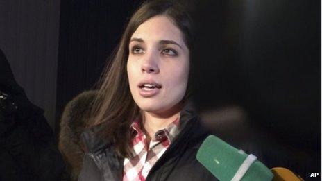 Nadezhda Tolokonnikova on her release (23 Dec 2013)