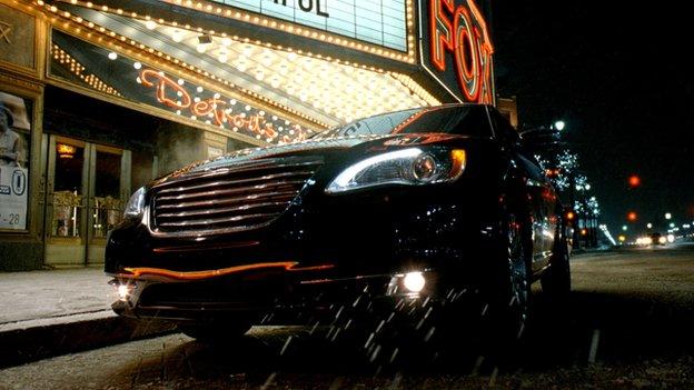 Still form Chrysler commercial Born of Fire