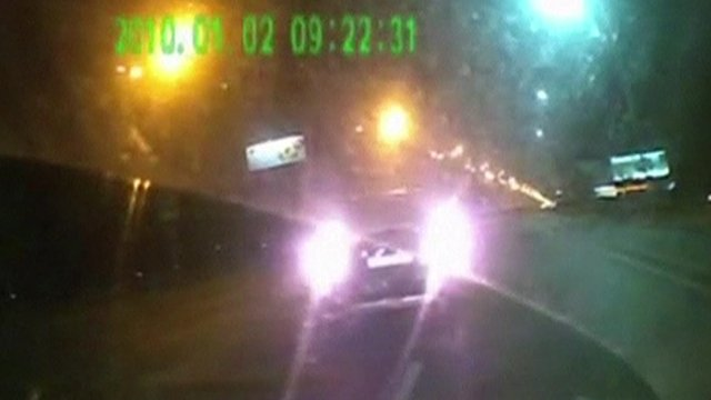 Footage from a camera in Tetyana Chornovil's car apparently shows an altercation with another vehicle
