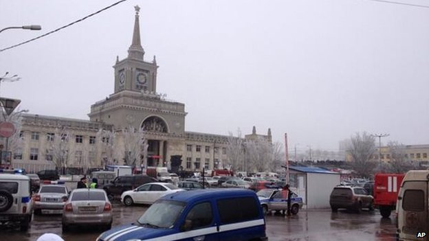 Volgograd-1 railway station, 29 December 2013