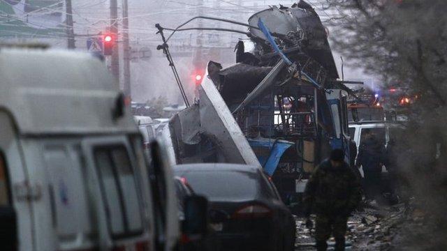 Scene of second explosion