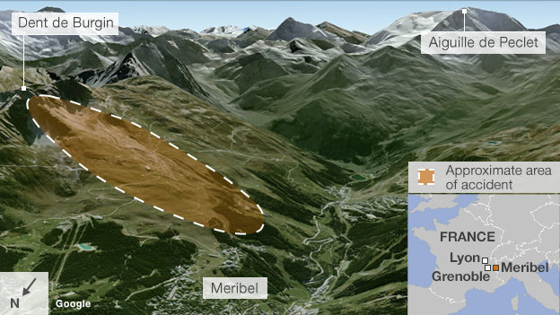 map of piste
