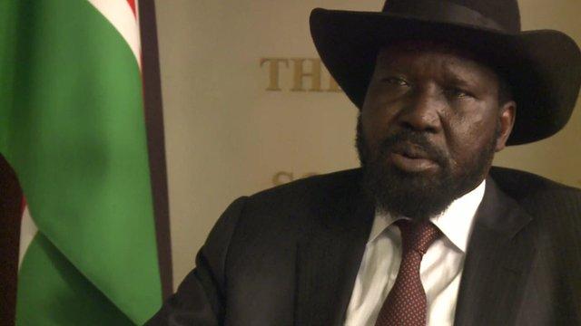 President of South Sudan, Salva Kiir