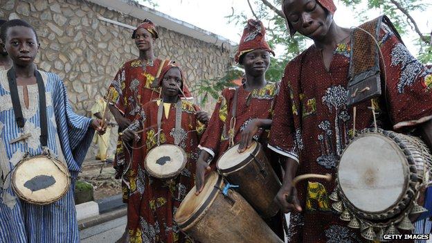 Drummers in Ibadan, Nigeria