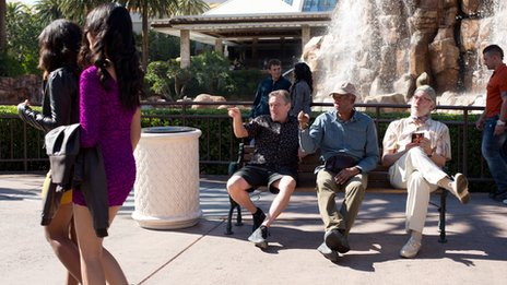 Robert De Niro, Morgan Freeman and Michael Douglas in Last Vegas