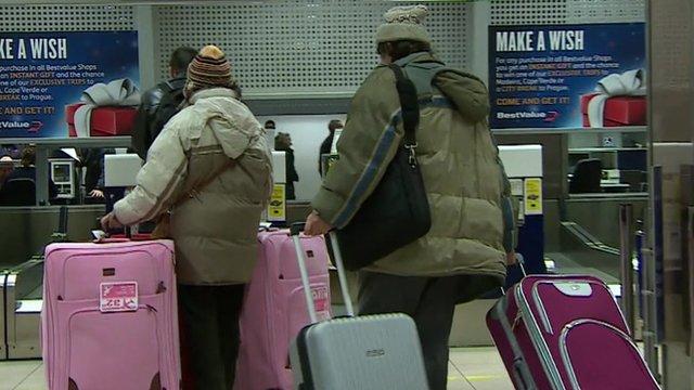 Anonymous airport passengers