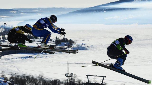 Freestyle skiing cross