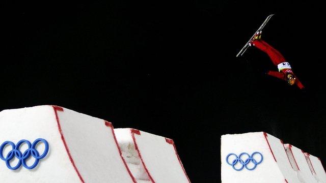 Freestyle skiiing aerials