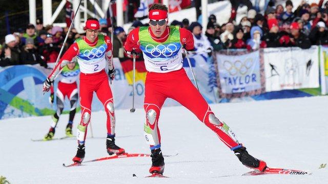 Nordic combined skiing