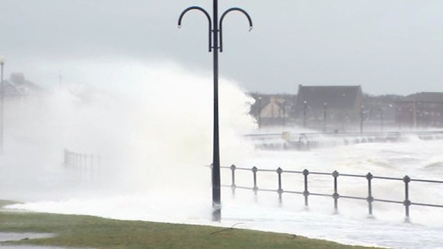 Waves breaking at Ardrossan