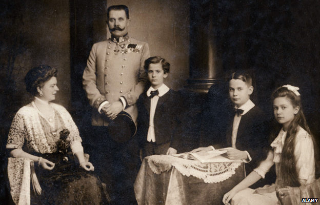 Franz Ferdinand, Archduke of Austria with with his wife Sophie, Duchess of Hohenberg and their children