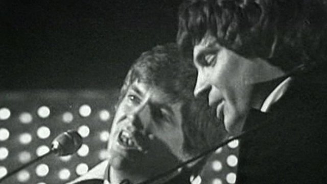 Phil Everly, on the left, with brother Don