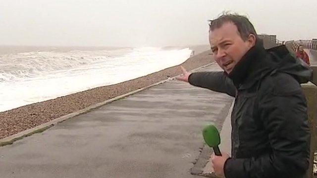 Simon Clemison at Chesil Beach, in Portland, Dorset