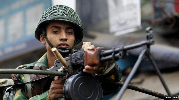 Soldier in Dhaka, 5 Jan