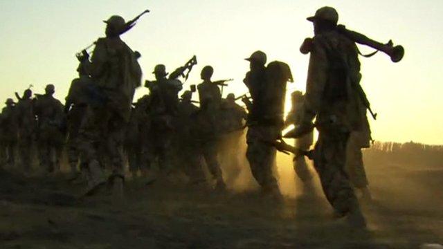 Men in uniform in South Sudan