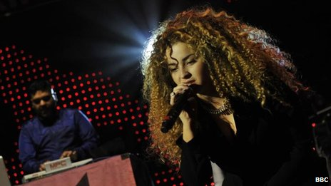 Ella Eyre (right) performed at BBC Radio 1xtra Live with collaborator Naughty Boy