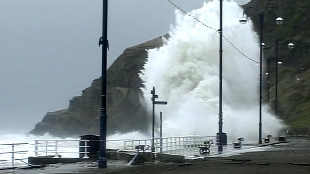Waves at Aberystwyth seafront