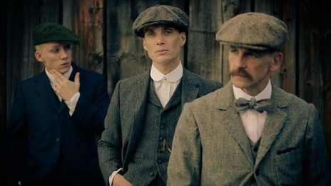 Joe Cole, Cillian Murphy and Paul Anderson star in Peaky Blinders