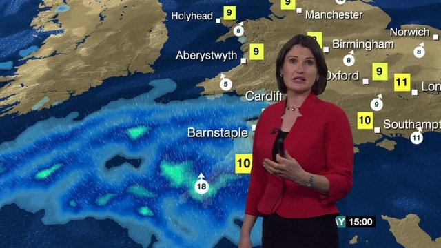 BBC Weather's Helen Willetts