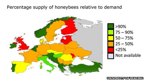 map bees