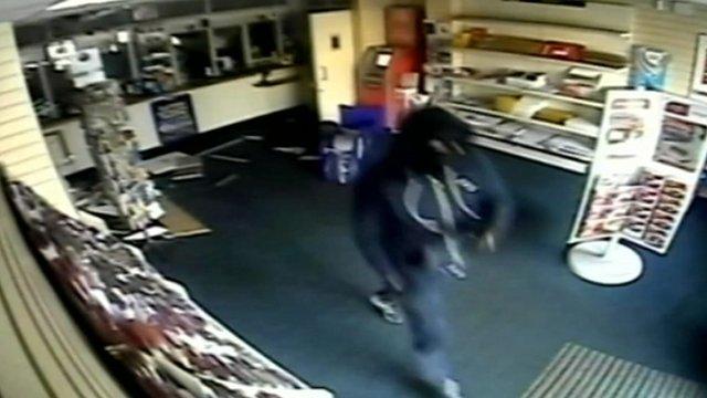 Oldham Post Office robbery CCTV