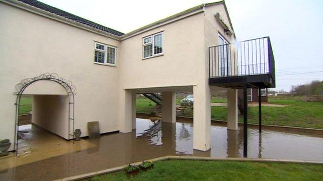 House built on stilts