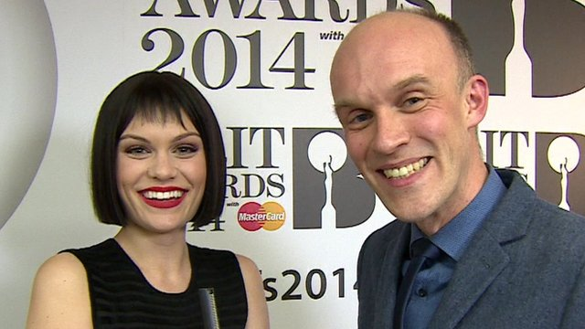 Jessie J and the BBC's Colin Paterson