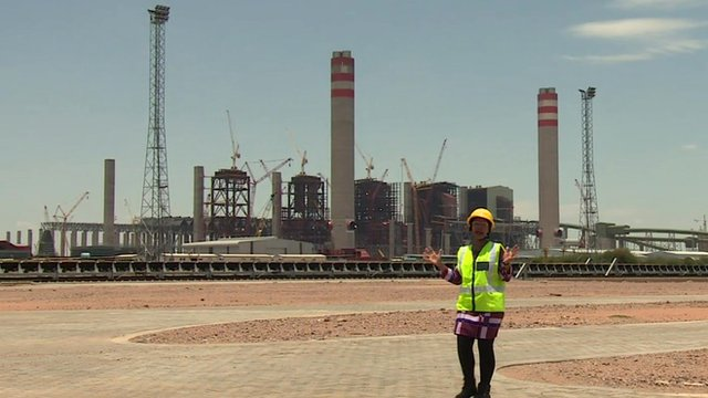 Lerato Mbele at power station